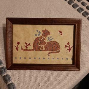 Vintage Couple Cats Scherenschnitte '87 Fo…